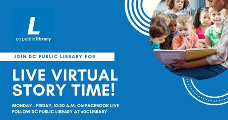 Join DC Public Library Live Virtual Story Time